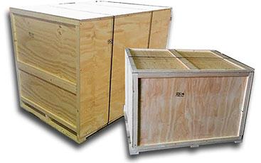 Cajas de madera cerrada