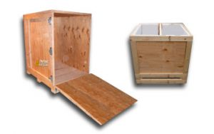 Cajas de madera para ferias comercio