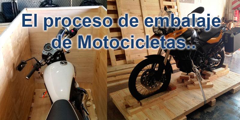 Embalajes de Madera para Transportar Motocicletas.
